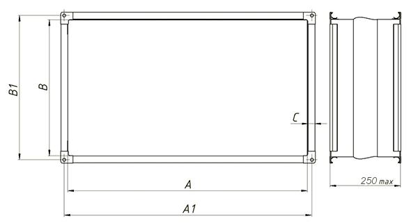 гибкая прямоугольная
