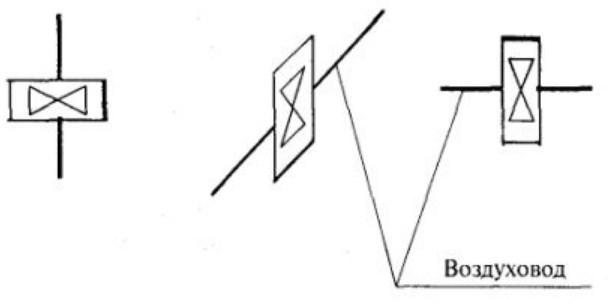 Осевые вентиляторы на схеме