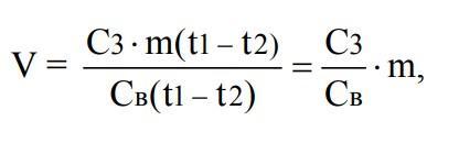 формула охлаждение зерна