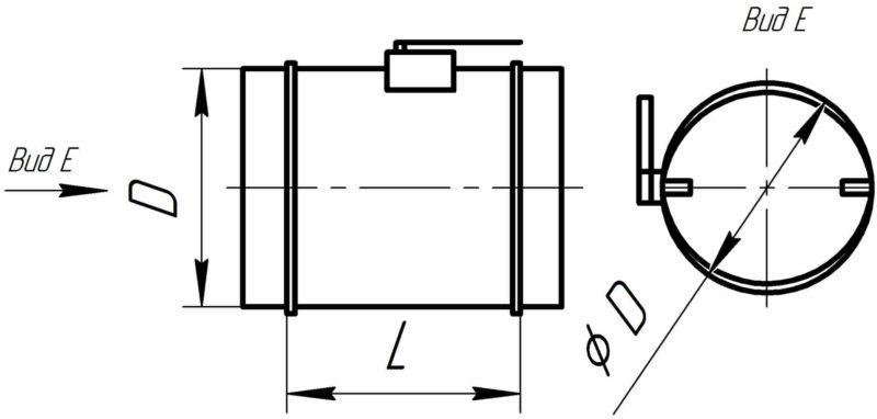 вентиляция дроссель-клапан